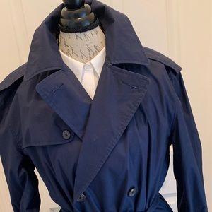 Ralph Lauren Navy Trench Coat